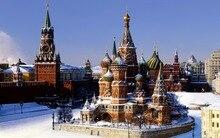 Diy 5d Diamant Malerei Landschaft Diamant Stickerei Kreuzstich mosaik kit Für Haus Geschenk Kremlin Aufkleber Schnee Clock Tower