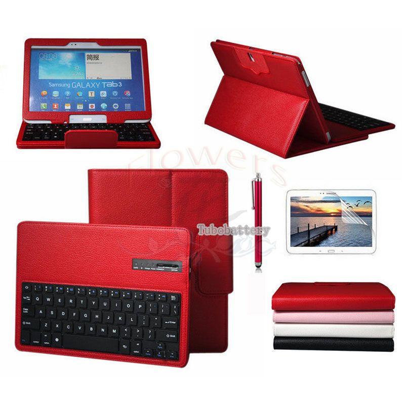 Detachable Wireless Bluetooth Portable Leather Keyboard Cover Case+1Stylus Pen For Samsung Galaxy Note 10.1 2014 Edition P600 samsung galaxy note 10 1 2014 edition 3g 16gb