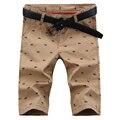 2016 nova moda de verão Coreano maré lavagem tubo reto casual shorts de algodão impressão multicolor opcional calções masculinos