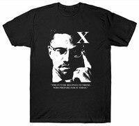 Custom T Shirt Printing Short Sleeve MALCOM X T SHIRT CIVIL RIGHTS MOVEMENT AMERICA USA Casual