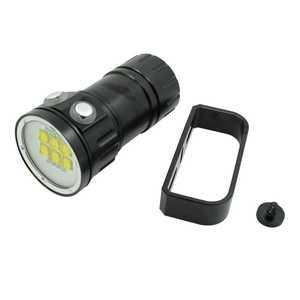 Image 3 - צלילה 20000Lumens 6x9090 לבן + 4xRed + 4xBlue LED צלילה לפיד אור מתחת למים וידאו צלילה פנס מנורת 18650 סוללה מטען