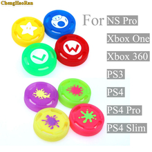 4pcs/ lot For Nintend Switch Joy-con Controller Splatoon 2 3D analog Joystick Cap Silicone Cover Case for NS Pro Controller splatoon