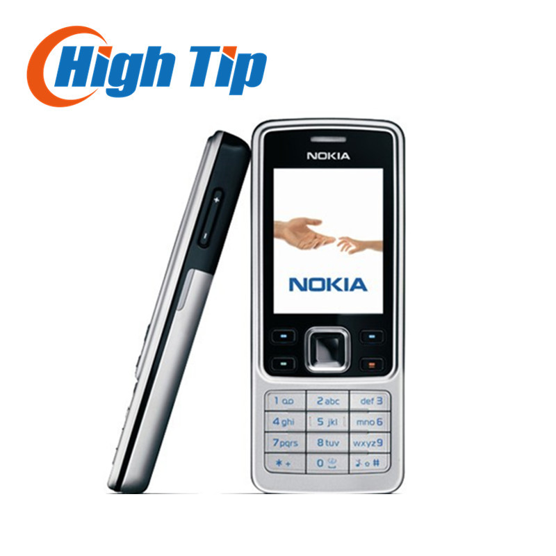 Russian keyboard support Nokia unlocked original 6300 Refurbished cell mobile phone 1 year warranty Singapore free