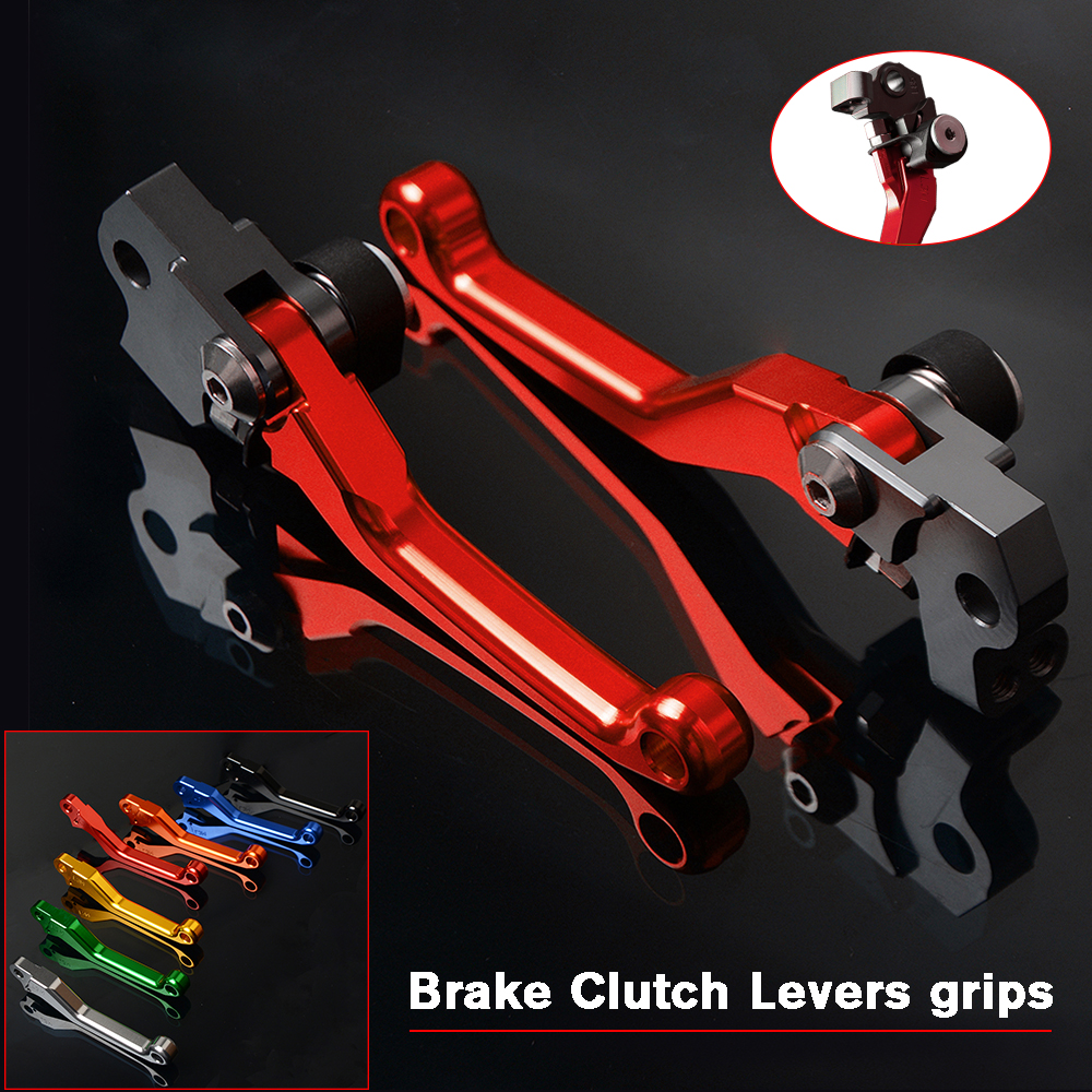 CNC Aluminum Dirt Bike Motocross Pit Bike Pitbike Brake Clutch Levers For KTM 450SMR 2009 450 SMR-in Levers, Ropes & Cables from Automobiles & Motorcycles