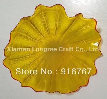 LRW021 Free Shipping Modern Cheap Platter Gallery Murano Glass Plate Wall Decoration|glass wall plates|decorative decorative|decorative plates wall -