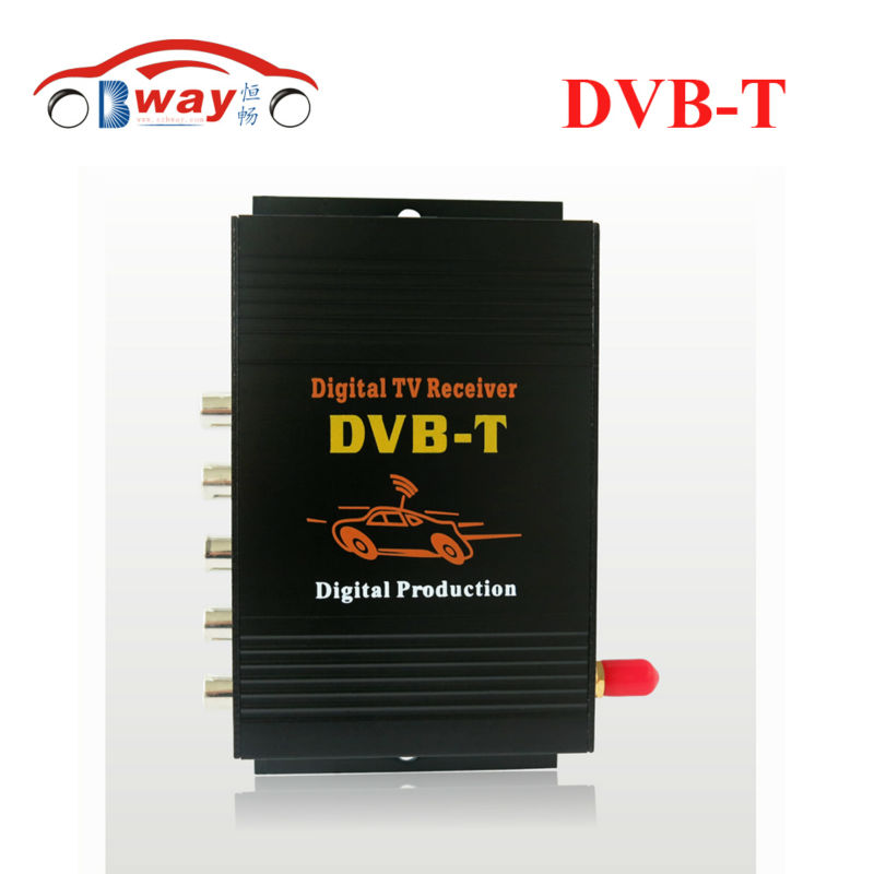 DVB-T MPEG-4 car digital TV receiver box with 4 video output,single antenna for Europe, France, Germany, Spain, Middle East