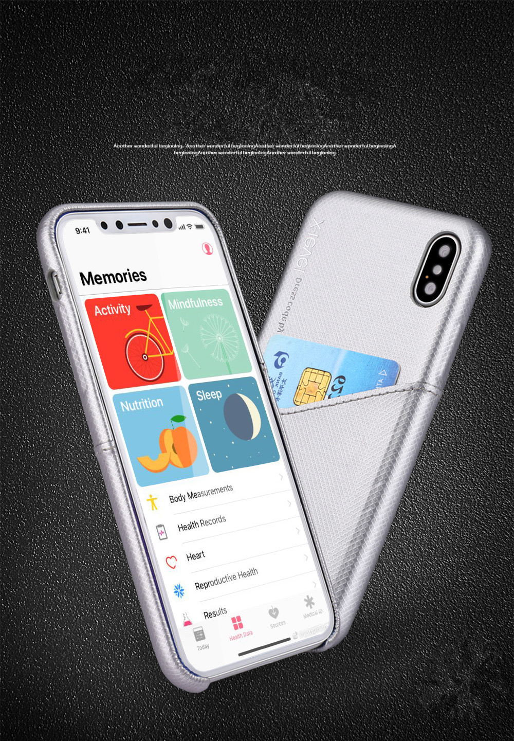 Phone Cases PIPILU X-Level PU Leather ultra thin back Cover Slim with Card slot cover for iPhone X 10 iPhone 8 Plus 7 Plus