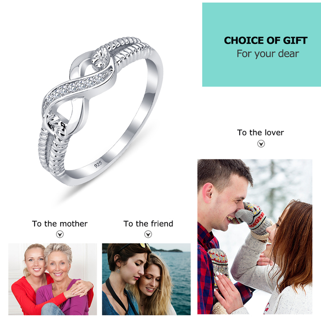 Sterling Silver Infinity Fashion Ring for Women  5