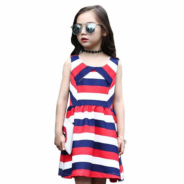 Luoyamy Девушки Летом Полосатом Платье Детские Выпускные Платья детская Одежда Дети Повседневная Принцесса Бальные Платья