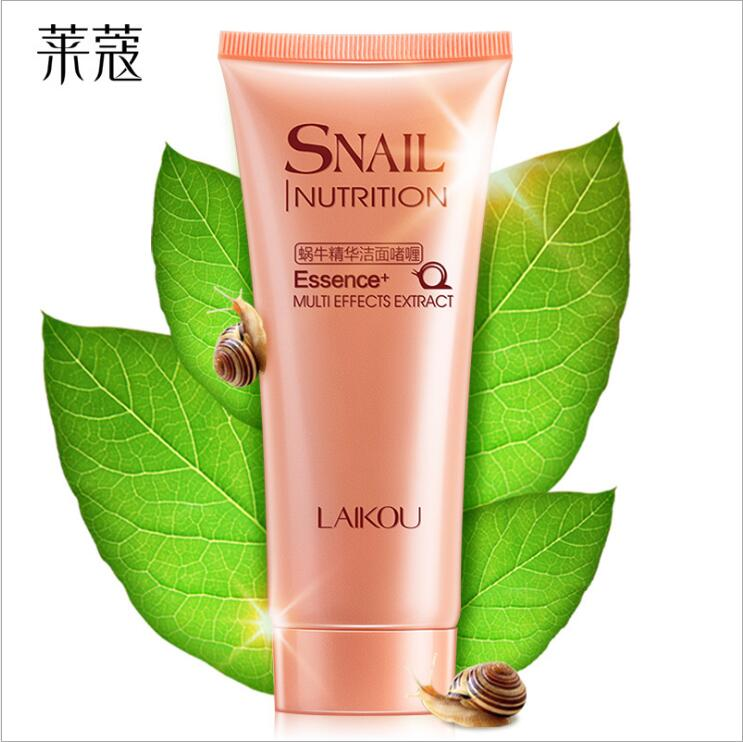 100g Snail Facial Cleanser Anti Aging Natural Organic Gel Daily Face Wash Exfoliating Gel Deep Pore Cleansing Skin Care image