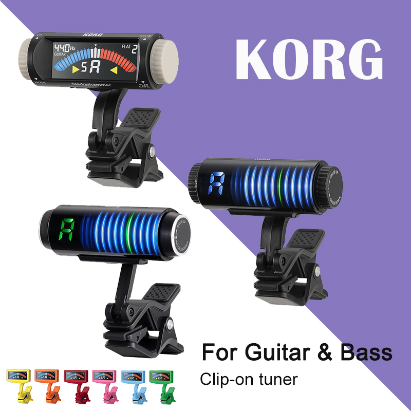 KORG Sledgehammer PithCrow-G PitchHawk-G2 Clip-On Guitar Tuner With Color LCD Tuner For Guitar/Bass/Ukulele