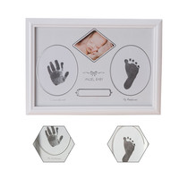 Household Decoration Kids Photo Frame DIY Baby Handprint Or Footprint Soft Beautiful Collection Wooden Classic Picture
