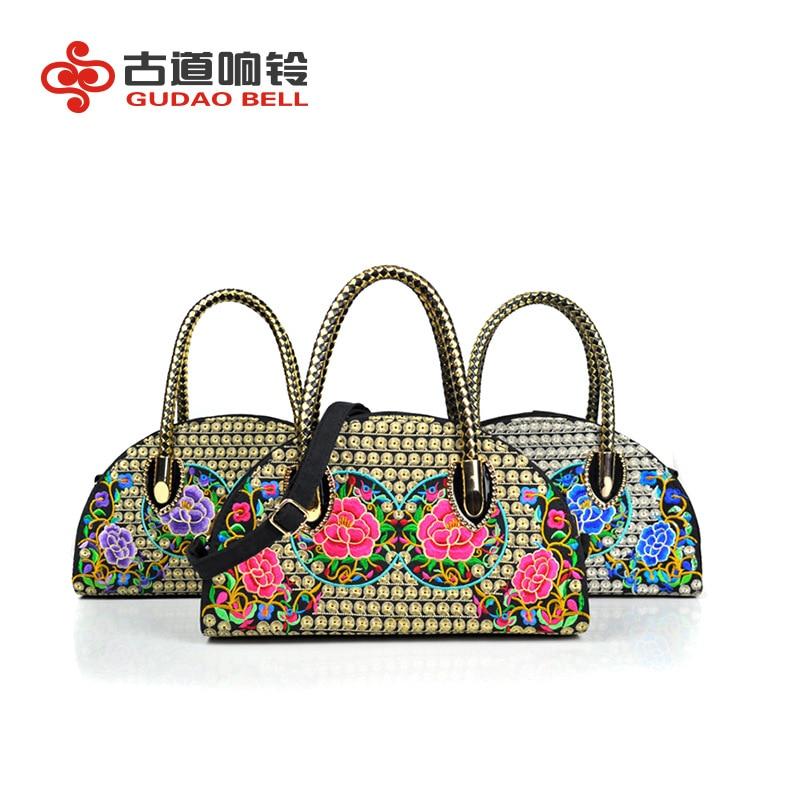Women's Messenger Bags Embroidered Small Mini Canvas Handbags Crossbody Bag Evening Bags Drop Ship Wedding Totes Ladies