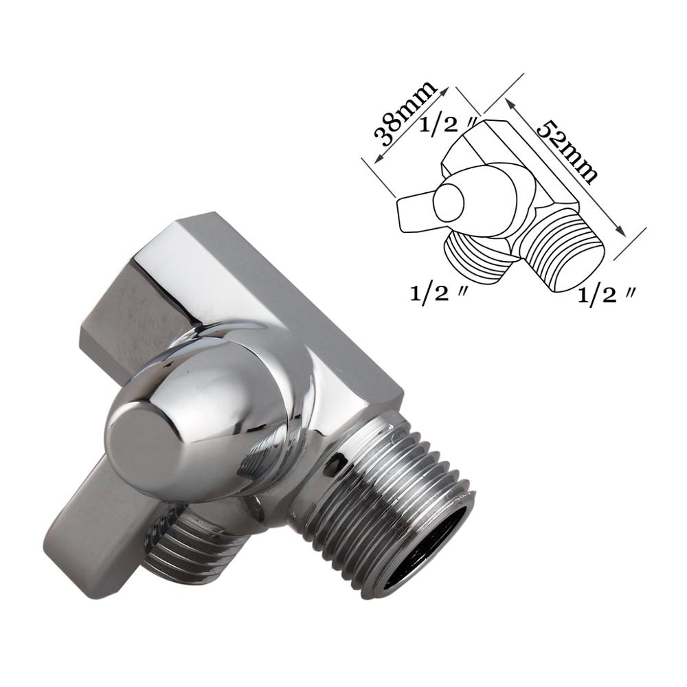 3-Way Solid Brass Diverter Valve Shower Pressue Valve Solid Water Control Valve Shut Off Valve for Shower Head full brass g1 2 flow quick control shut off valve for shower head hand water saver