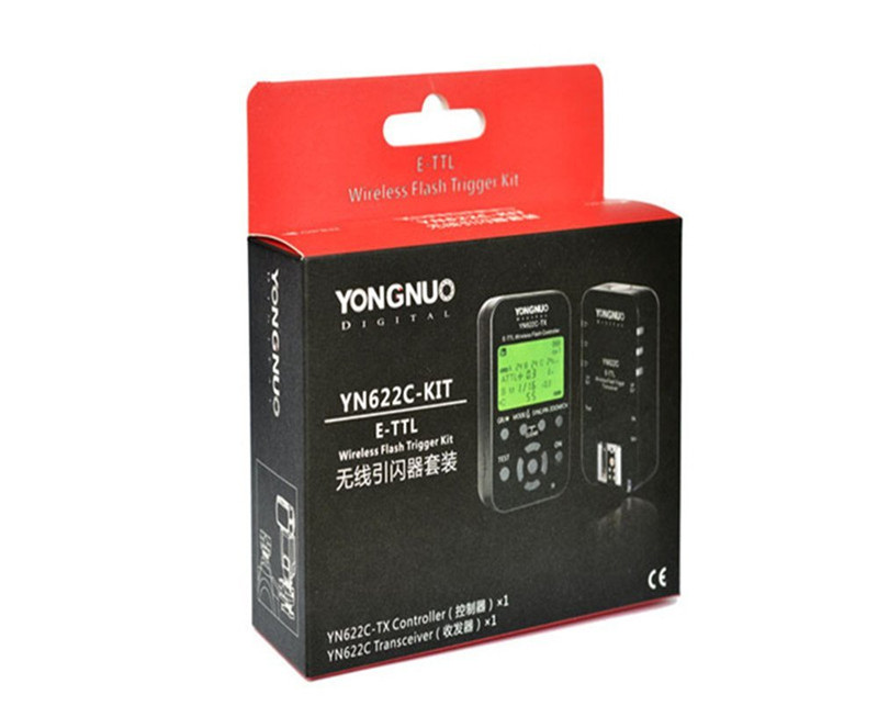 YONGNUO Wireless E-TTL Flash Trigger Kit for Canon including 1X YN622C-TX Controller and 1X YN622C Transceiver yongnuo yn622c wireless e ttl 1 8000s flash trigger for canon 5d3