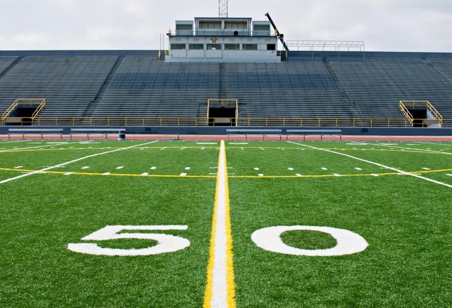 Laeacco American Football Field Scenic Photography: Laeacco Open Air American Football Field Stadium