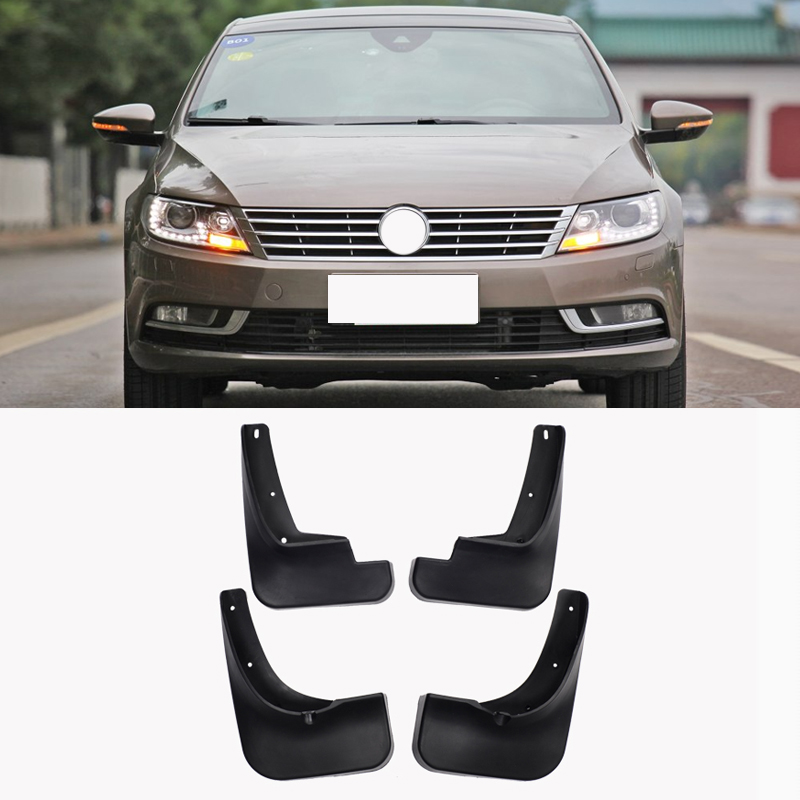 Free Shipping High Quality ABS Plastics Automobile Fender Mudguards Mud Flaps For Volkswagen VW Passat CC Car Styling