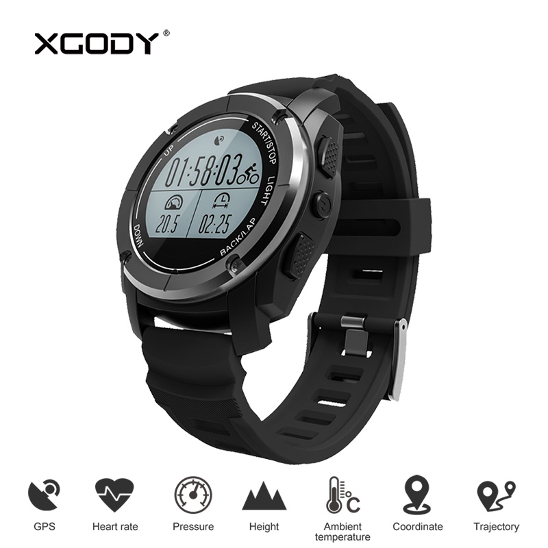 XGODY S928 Professional Sports Smart Watch Waterproof GPS Tracker Pedometer Heart Rate Monitor Smartwatch Reloj for iOS Android smart watch sports pedometer smartwatch heart rate monitor waterproof smart wristband remote control camera for phones relogio