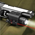 Pistol Red Laser Combo Hunting Sight Scope 650nm Tactical LED Flashlight Switch Button For Rifle Pistol Gun Airsoft Shot #JGSD