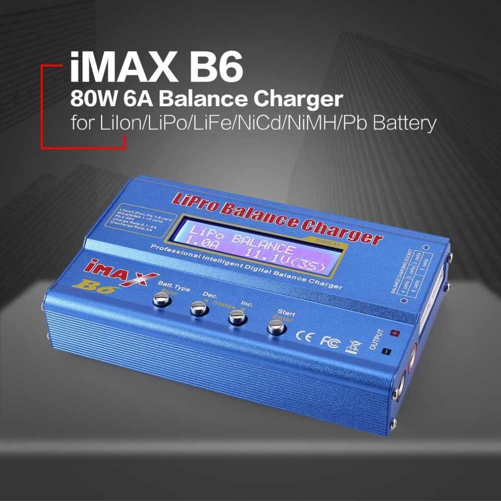 6A AC//DC-Adapter f/ür RC Modell Batterie Heaviesk iMAX B6 80W 6A Lipo NiMh Li-Ionen-NI-Cd RC Balance Charger 10W 2A Entlader mit 15V