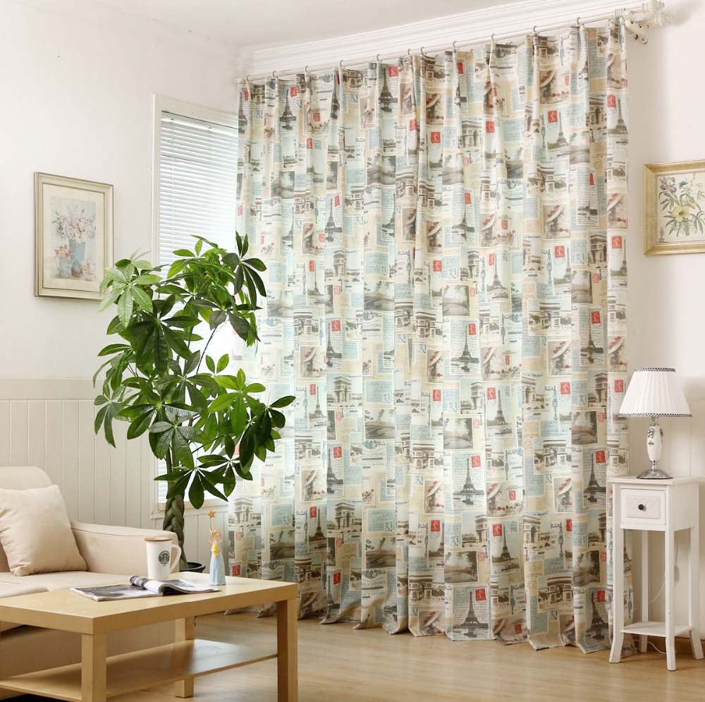 Printed curtains living room - The New Material Cloth Cotton Fabric Printed Curtains Bedroom Curtains Living Room Balco China