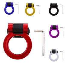 Car Tow Hook Universal Auto Towing Hook Sticker Decoration Car Rear Front Trailer Simulation Racing Ring 4.33x2.95″ Car Styling abs metal colorful tow hook allen wrench car auto trailer decorative tow hook universal for truck suv front bumper automotive