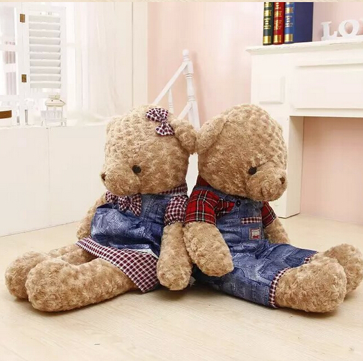 90 cm 1PCS Teddy Bear Plush Toy giant teddy bear 2style free choose high quality fancytrader biggest in the world pluch bear toys real jumbo 134 340cm huge giant plush stuffed bear 2 sizes ft90451
