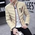 Мужчины Куртка Мужская Пальто 2016 Бренд Одежды Зимние Куртки Мужские Контрастного Цвета С Толщиной Хлопка Куртки Случайный Лоскутное Оптовая