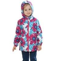 2017 Waterproof Windproof Girls Coat Hooded Children Jacket Outwear For Spring Autumn Winter 3 12 Years