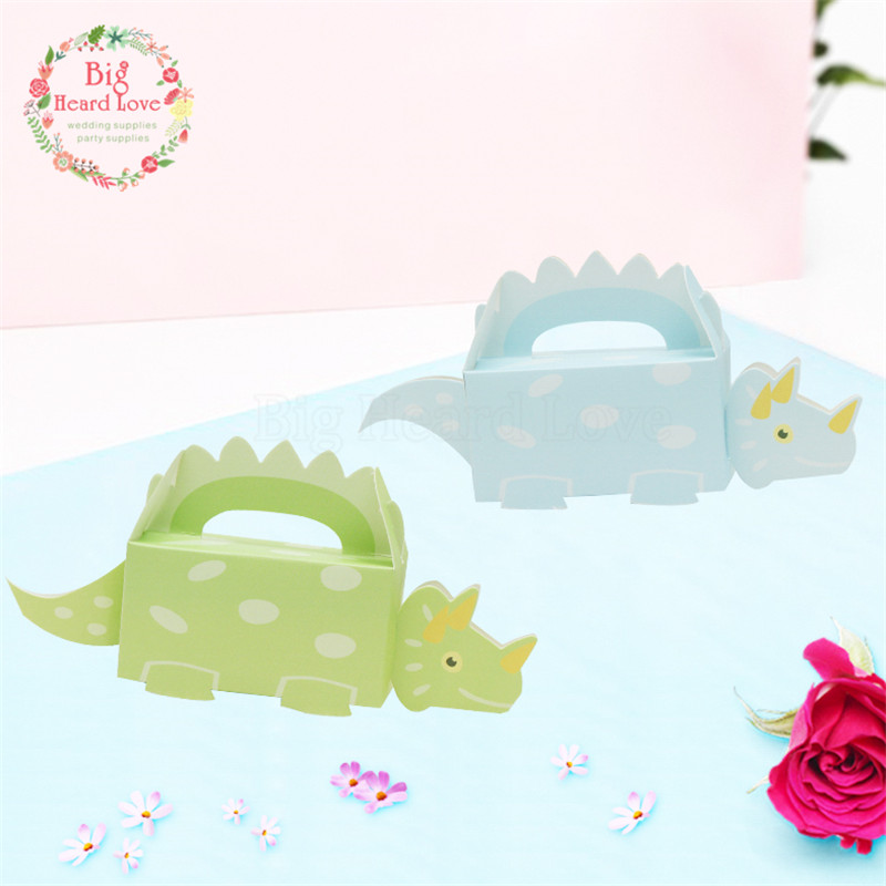 50pcs Dinosaur Candy Box Baby Cut Animal Paper Gift Boxes Decoration For Kids Birthday Party DIY Baby Shower Supplies KL-001
