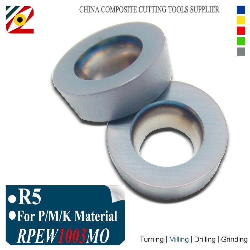 EDGEV 10pcs R5 RPMW1003MO RPEW1003 MO EP5250 فرز کاربید درج ابزار برای دستگاه برش میلز EMR سری دستگاه های CNC
