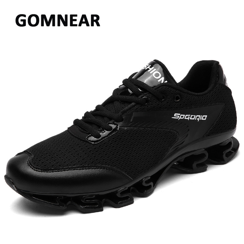 GOMNEAR Autumn Men Running Shoes Damping Breathable Non-slip Comfortable Sneakers Outdoor Jogging Walking Trekking Trend Shoes somix brand running shoes new arrivals couple sport outdoor jogging damping men running shoes hard wearing non slip sneakers men