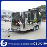 crepe food cart cheap mobile fast food truck