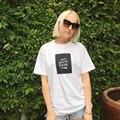 ANTISOCIAL CLUB SOCIAL Impresa de Las Mujeres de Moda de Verano Harajuku Camiseta Causual de Manga Corta Floja Top Unisex Camisas de Gran Tamaño