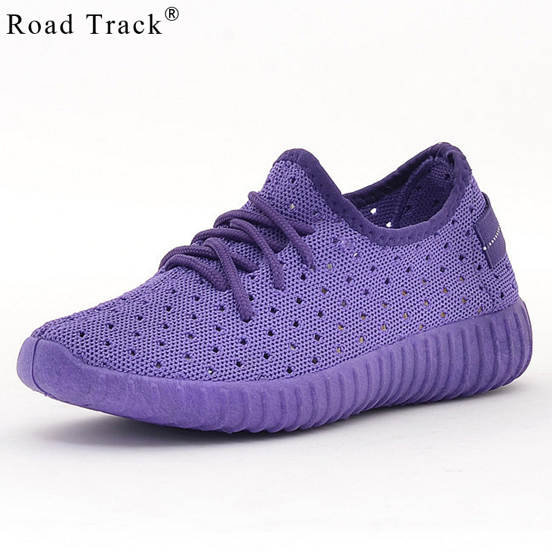 Road Track Spring Women Sneakers Lace-up Round Toe Sewing Ladies Shoes Four Colors Pink Red Black Purple Size 35-40 XWA1485-5