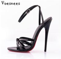 Genuine Model Catwalk Shoes 2017 Fashion Large Yard 36 44 Summer Sexy Ultra high Heels 14CM Fine With Patent Leather Fun Shoes