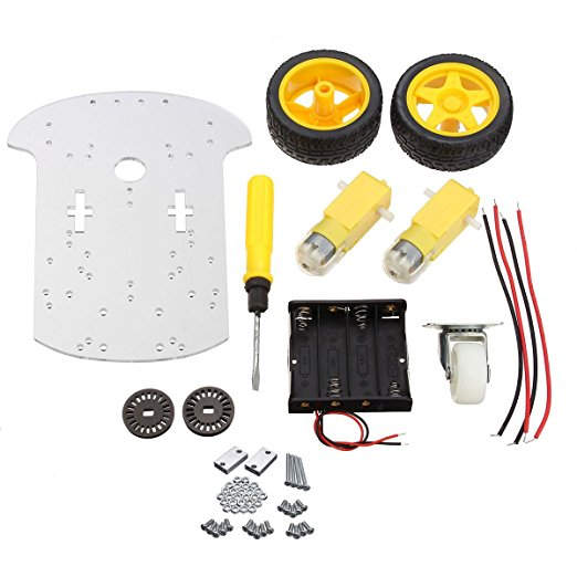 Transparent Motor Smart Robot Car Chassis Kit Speed Encoder Battery Box For DIY 4