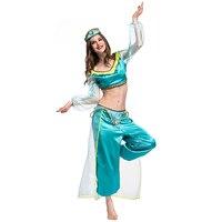 European and American fun performance clothing movie game anime cosplay costume magic lamp Arab cosplay costume female