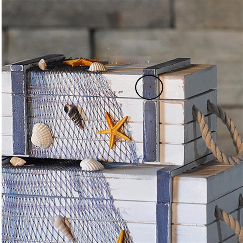 Méditerranée mer style créatif en bois artisanat boîte de rangement décor à la maison bijoux boîte weding décor grands beaux cadeaux - 3