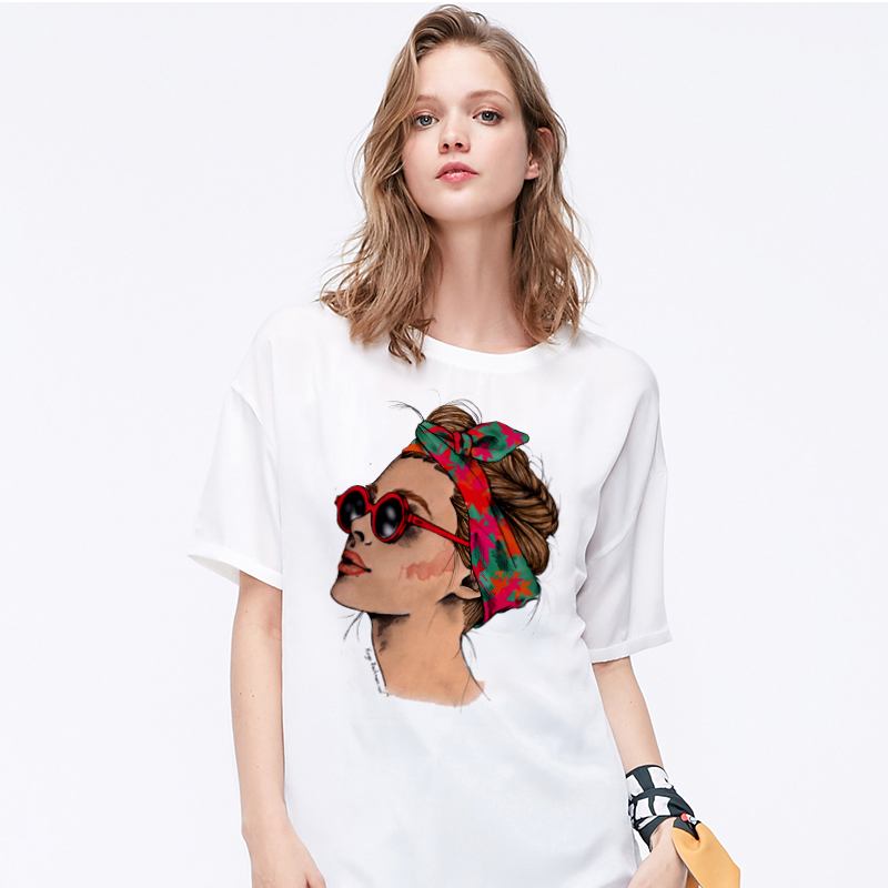 Summer 19 T shirt Women Harajuku Print Vintage Female Casual Fashion Tshirt O-neck Short Sleeve T-shirt White Tops Clothing 3