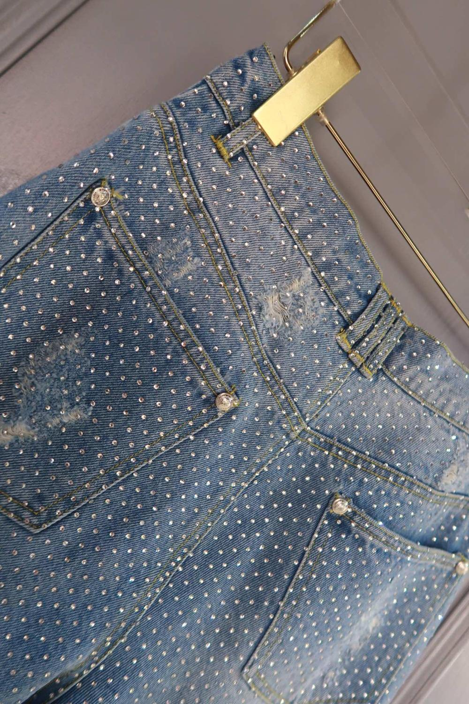Diamantes Calidad Ddxgzv Vaqueros Alta Casual Mujeres Pantalones 10 Las De 3 xqtIpF