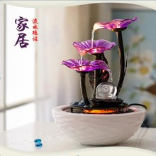 Atomization Water Ball Ceramics Fountain Desktop Humidifier Fengshui Fish Tank with A Sprayer
