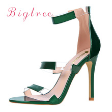 Luxury Famous Brand Women Pumps Sesy High Heels sandals Green Women's Shoes Peep Toe High Heels Wedding Shoes Woman Silver Red winter red high heels shoes woman luxury brand suede pointed toe bigtree shoes fur sandals sexy pumps bridal wedding women shoes