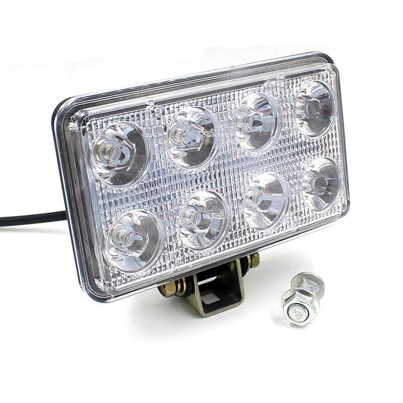kongyide Healight Bulbs 12V 24V 24W 1600LM LED Work Light Lamp For SUV ATV Car Truck Tractor Boat NOV10