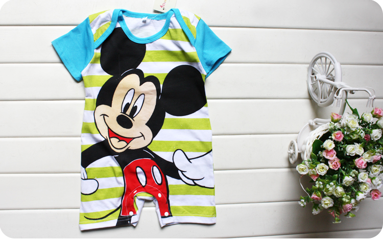 HTB11RhJVbPpK1RjSZFFq6y5PpXaQ Newborn Mickey Baby Rompers Disney Baby Girl Clothes Boy Clothing Roupas Bebe Infant Jumpsuits Outfits Minnie Kids Christmas