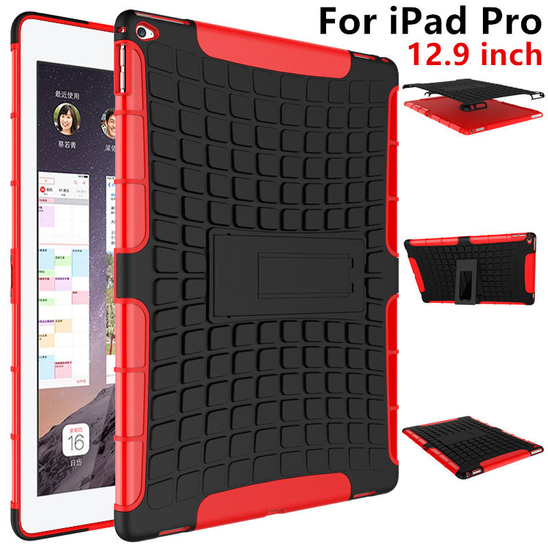Case For Apple iPad Pro 12.9 inch TPU Case 2015 pro Armor Shockproof Heavy Duty Silicon PC Stand Smart Cover PU Protective shell