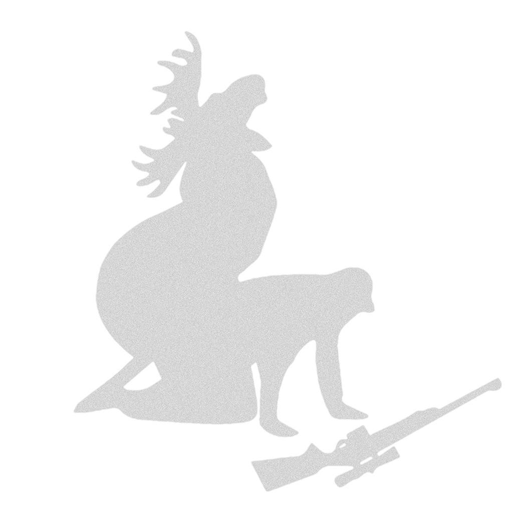 New PVC Moose Hunting Pattern Film Vehicle Application Body Car Stickers Humorous Body Paste White, Black Car