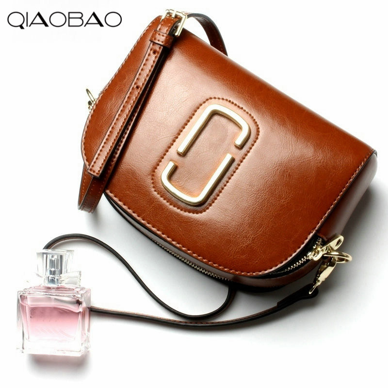 QIAOBAO Cowhide Leather handbags new wave of shells handbags Messenger bag shoulder bag simple package qiaobao 2018 new korean version of the first layer of women s leather packet messenger bag female shoulder diagonal cross bag