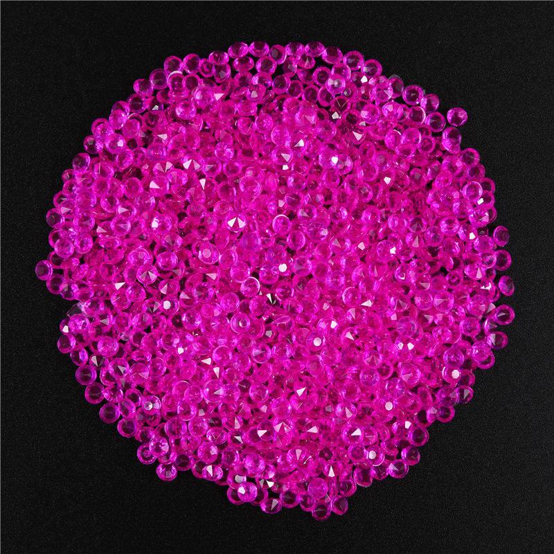 1000 шт 3,8 мм акриловое конфетти с бриллиантами для свадебной вечеринки, праздничное украшение, прозрачные кристаллы, украшение для рукоделия, 62463 - Цвет: 2PD-62463-6