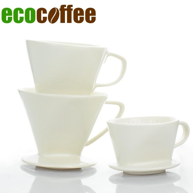 1 pc Frete Grátis Espresso V60 V60 Gotejador Gotejador De Café de Cerâmica 101 102 103